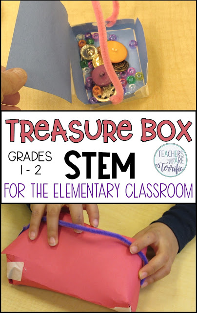 STEM for First Grade! The post includes five ideas with books as the inspiration for STEM projects. Includes details and materials lists! #teachersareterrific #readingandstem