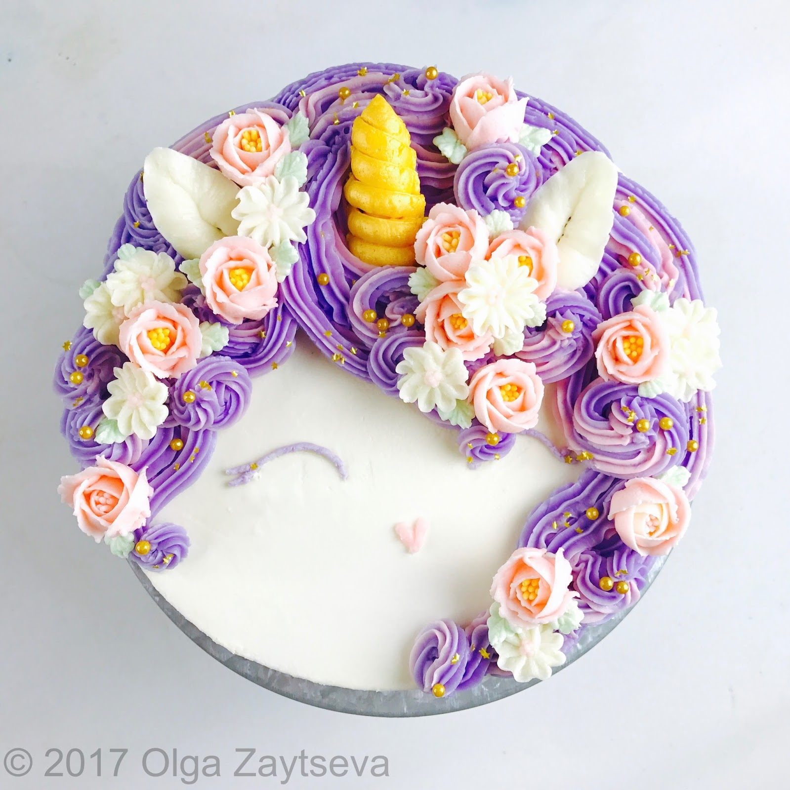 Buttercream flower cakes olga zaytseva magical unicorn birthday cake izmirmasajfo