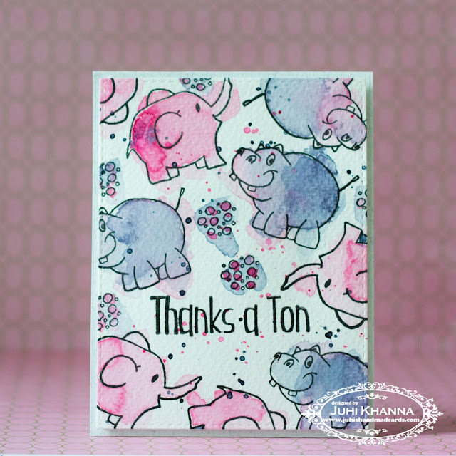 Easy stamped watercolor background with #happylittlestamper stamps