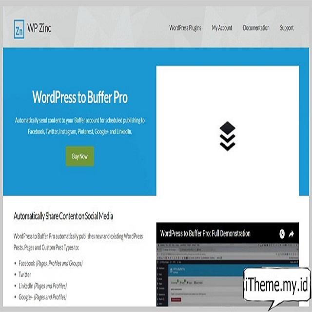 Plugin WordPress to Buffer Pro
