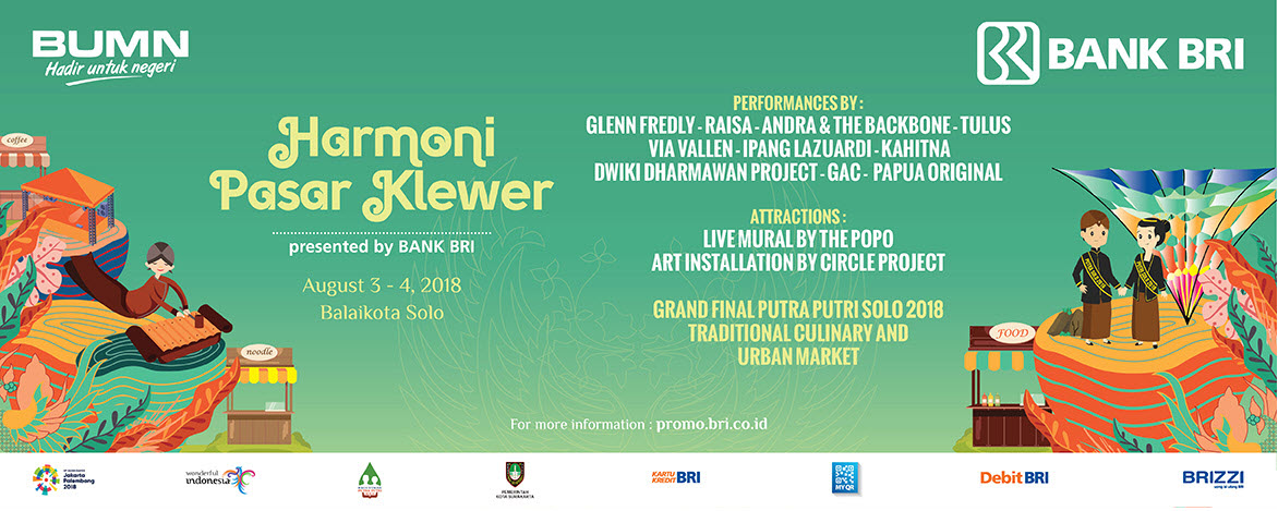 Bank BRI - Event Harmoni Pasar Klewer 2018 ( 3 - 4 Agustus 2018)