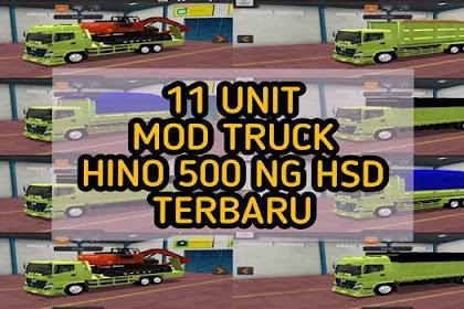 Share 11 Unit MOD Truck Hino 500 NG HSD BUSSID Terbaru