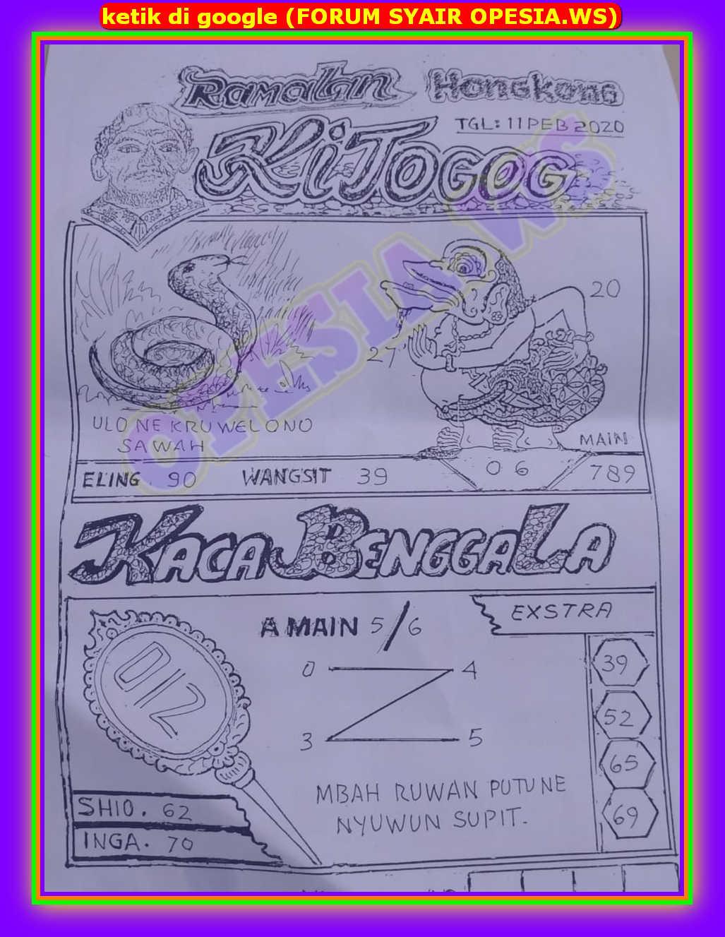 Kode syair Hongkong Selasa 11 Februari 2020 33