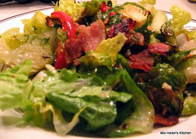 Brussels Sprouts Salad with Bacon Vinergrette
