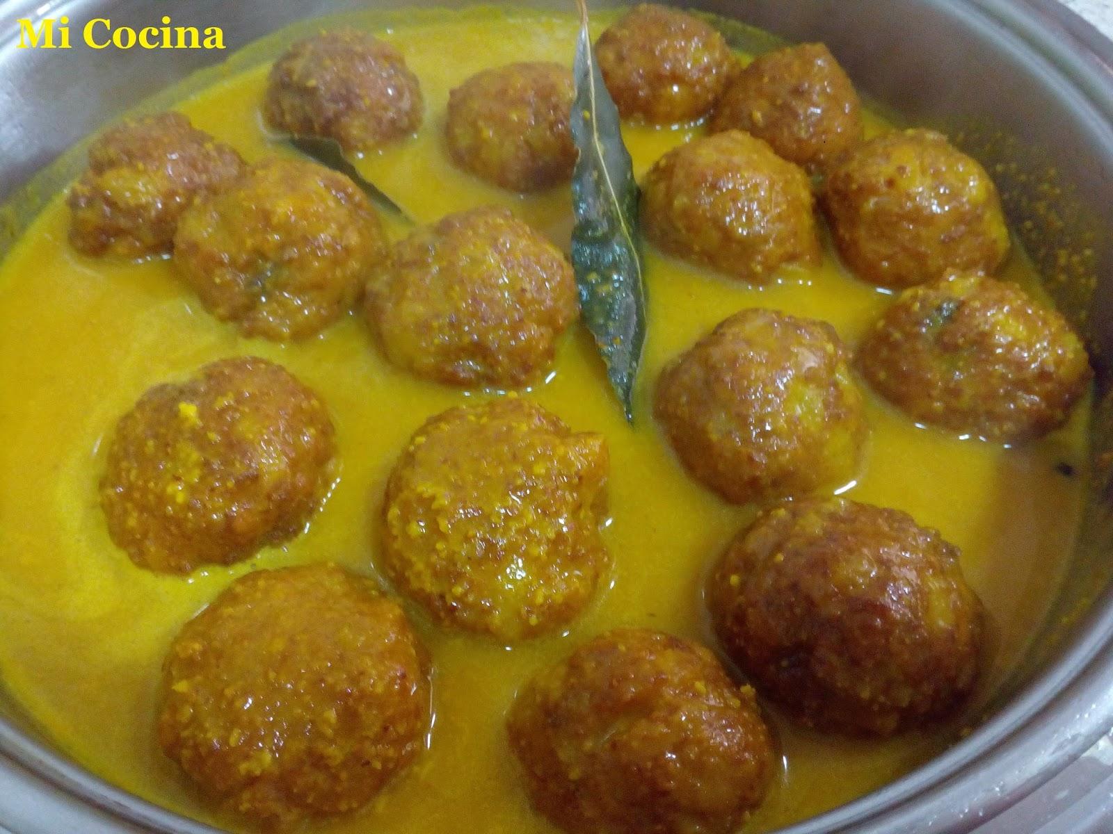 Mi cocina albondigas de carne en salsa de almendras for Mi cocina malaga