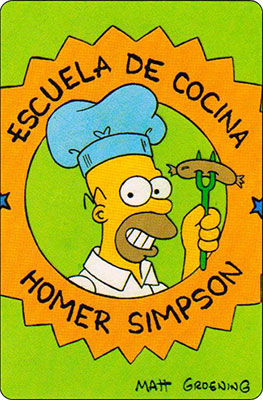 Bollycao The Simpsons Cromo 15