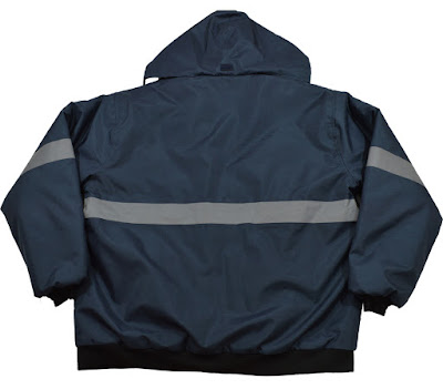 Petra Roc Navy-Blue, Enhanced-Visibility Quilted Bomber Jacket