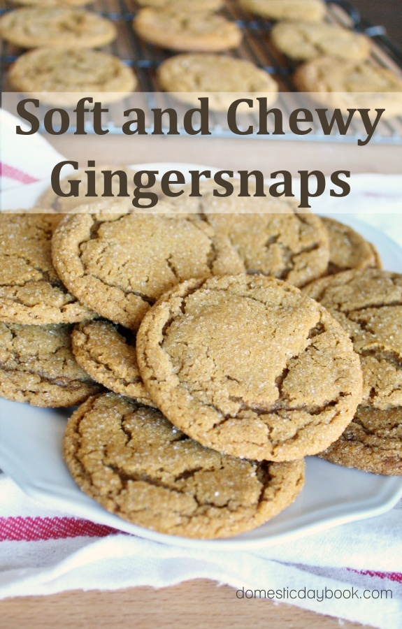 soft and chewy gingersnap cookies