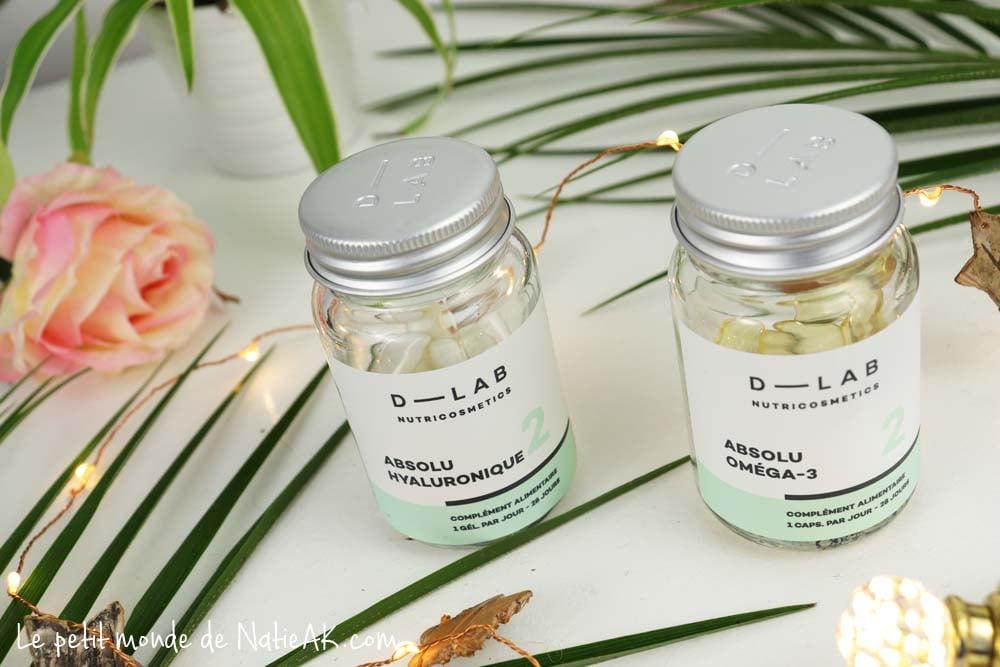 D Lab complément alimentaire acide hyaluronique et oméga 3