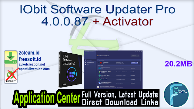 IObit Software Updater Pro 4.0.0.87 + Activator_ ZcTeam.id