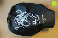 leer vorne: Dry Bag »Krake« Wasserdichte Trockentasche / Seesack / Survival Bag / Trockensack / Ideal für Kajak, Kanu, Segeln, Angeln, Schwimmen, Strand, Snowboarden, Skifahren, Bootfahren, Camping / Schützt Deine Wertsachen und Kleidung vor Staub, Nässe, Sand und Schmutz / 5L gelb