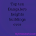 Bangalore k 10 sabse  uuche buildings
