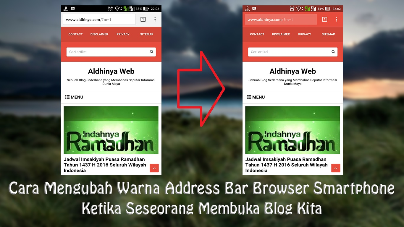 Cara Mengubah Warna Address Bar Blog Di Browser Smartphone