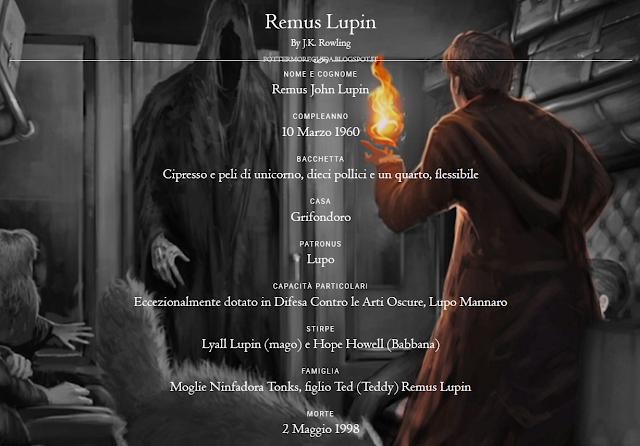 Scheda di Remus Lupin