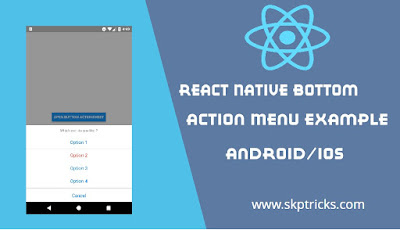 React Native Bottom Action Menu Example