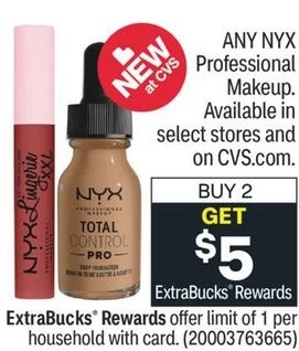 FREE NYX Makeup CVS Deals