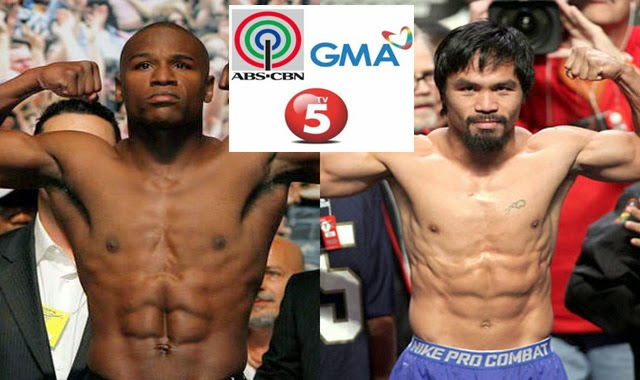 GMA Network Allows TV5 and ABS-CBN to Show Manny Pacquiao and Floyd Mayweather Fight