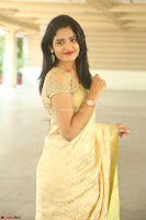 Harshitha looks stunning in Cream Sareei at silk india expo launch at imperial gardens Hyderabad ~  Exclusive Celebrities Galleries 029.JPG
