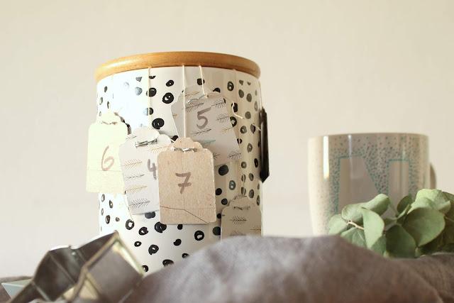 Geschenkidee Anleitung DIY Tee-Adventskalender mit Fotos aus dem Jahr Jules kleines Freudenhaus