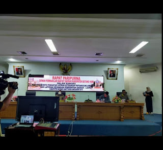 DPRD Kabupaten Batanghari Gelar Paripurna Dalam Menyampaikan Nota LKPJ dan LKPD Melalui Teleconference
