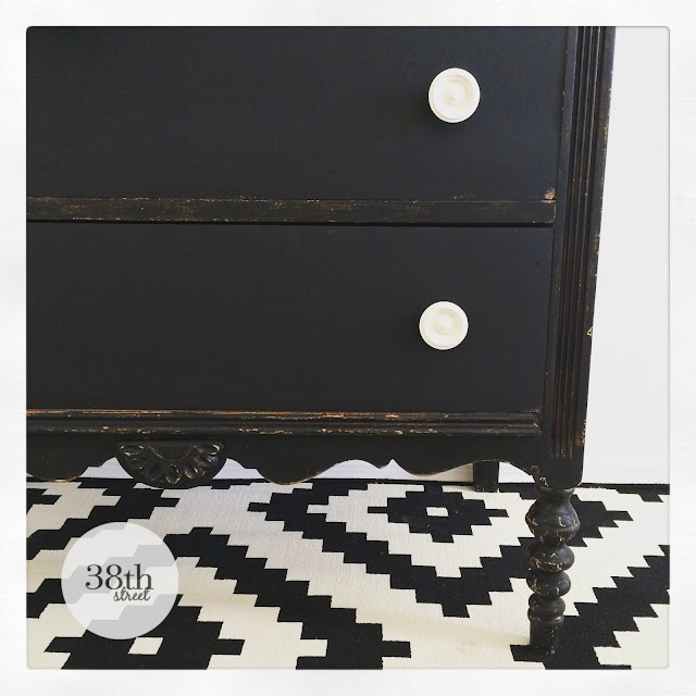 black and white dresser, before and after, diy, furniture makeover, refinished furniture, painted black dresser