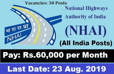 NHAI Young Professional Recruitment 2019