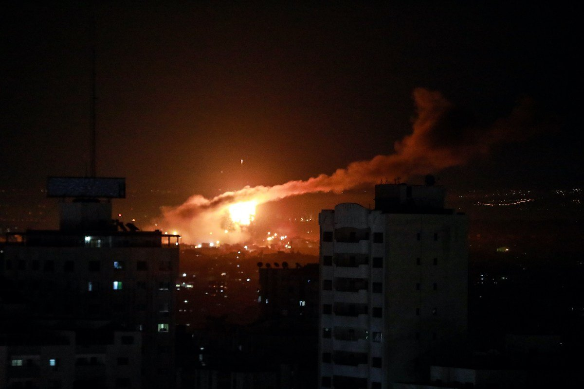 Jalur Gaza Digempur Pesawat-Pesawat Tempur Israel