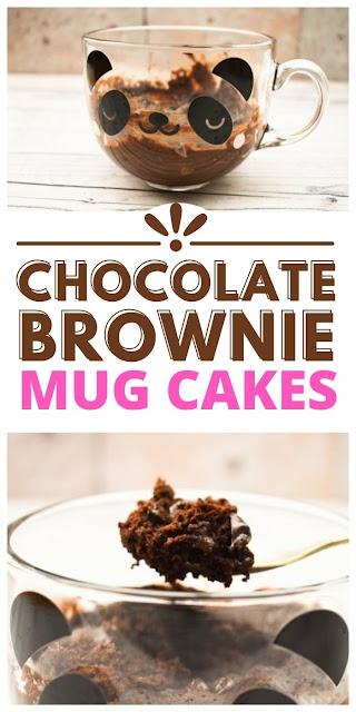 Chocolate Brownie Mug Cakes