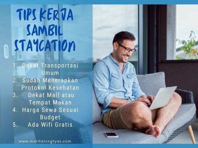 tips kerja sambil staycation