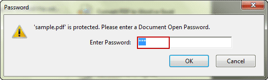 open password protected pdf file in adobe acrobat
