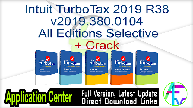 Intuit TurboTax 2019 R38 v2019.380.0104  All Editions Selective + Crack