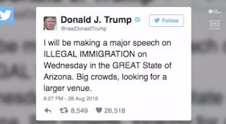 Trump To Give 'Major Speech' On Immigration Wednesday