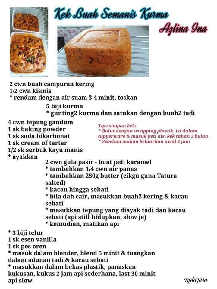 resepi kek buah