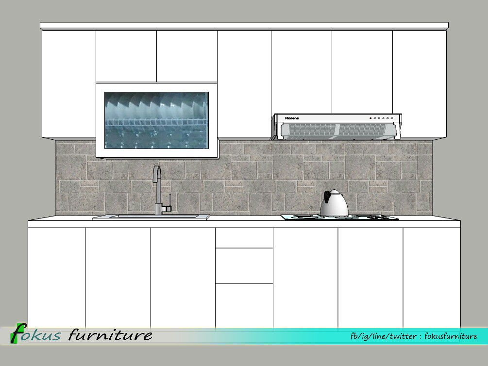 Contoh gambar desain kitchen set