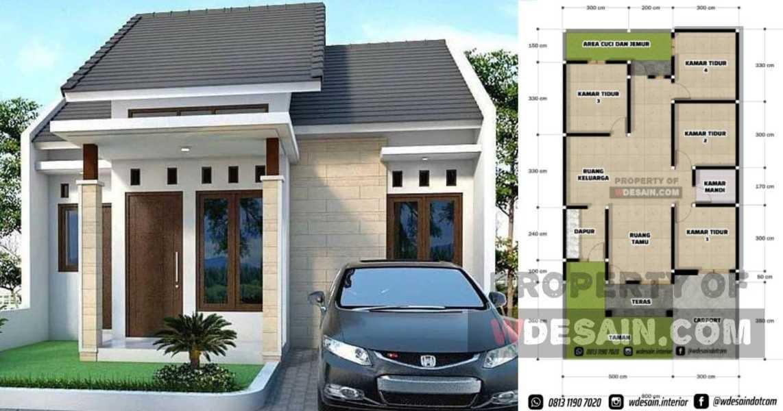 Desain Rumah 8x15 4 Kamar 1 Lantai Desain Rumah Minimalis