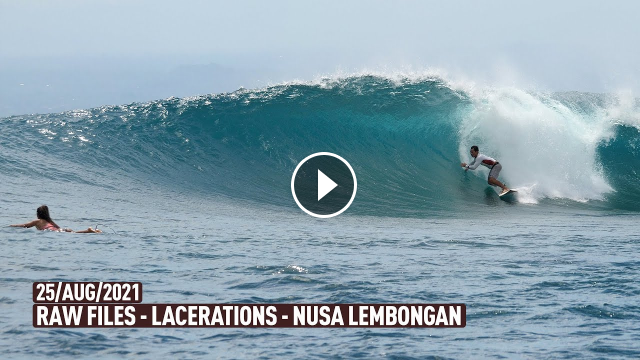 The Easiest Right-Hander Tube in Indo - Lacerations - Nusa Lembongan - RAWFILES - 25 AUG 2021 - 4K
