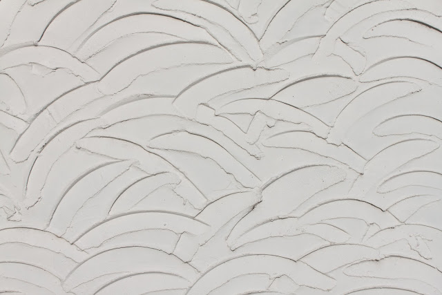White Wavy Wall Plaster Texture