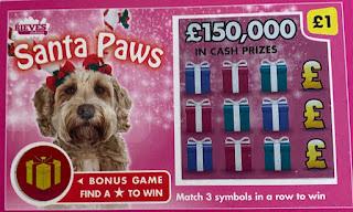 £1 Santa Paws Scratchcard