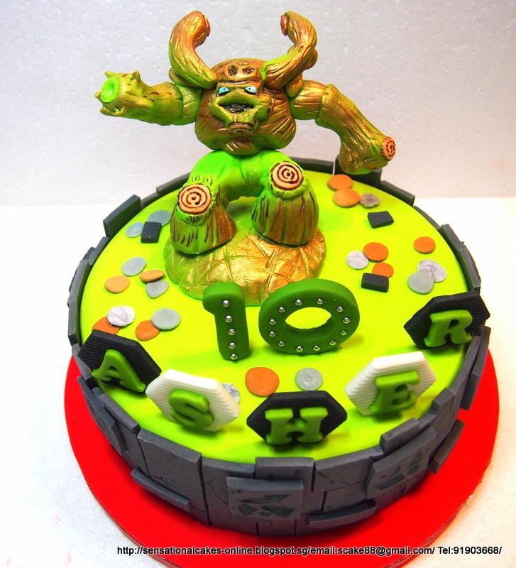Skylander Giants Tree Rex Cake Singapore / Handcrafted Figurines Sugar & The Sensational Cakes: Skylander Giants Tree Rex Cake Singapore ...