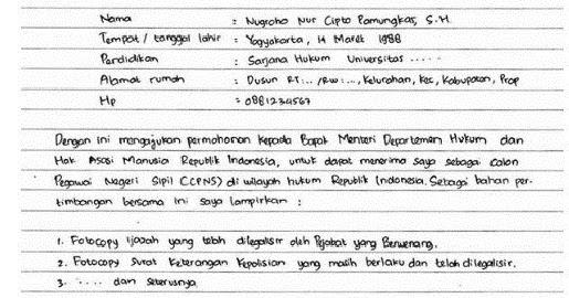 Surat Lamaran Pekerjaan Lengkap Jenis Jenis Cara Membuat