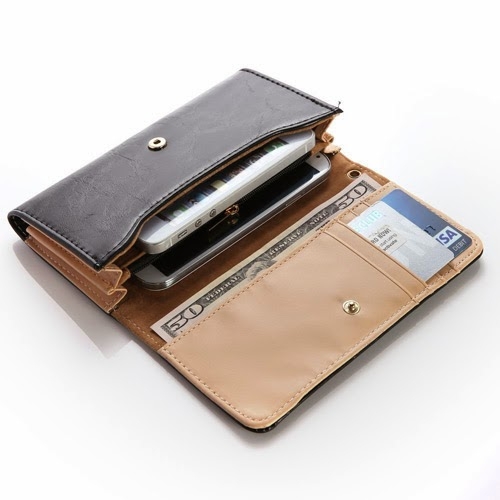 multifunctional wallet purse case for iphone 5 and other smart phones