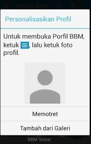 Personalisasi Foto BBM di Android