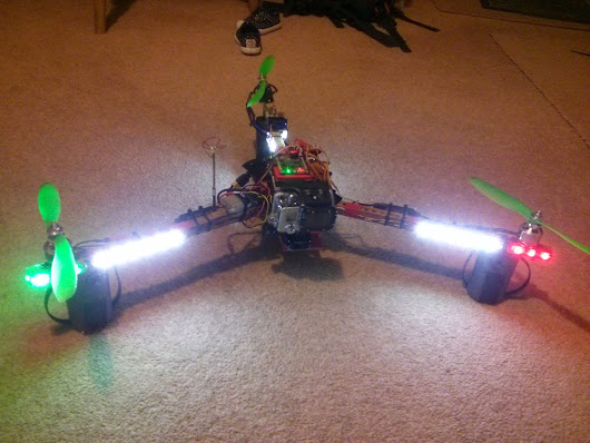 Lighting up the tricopter