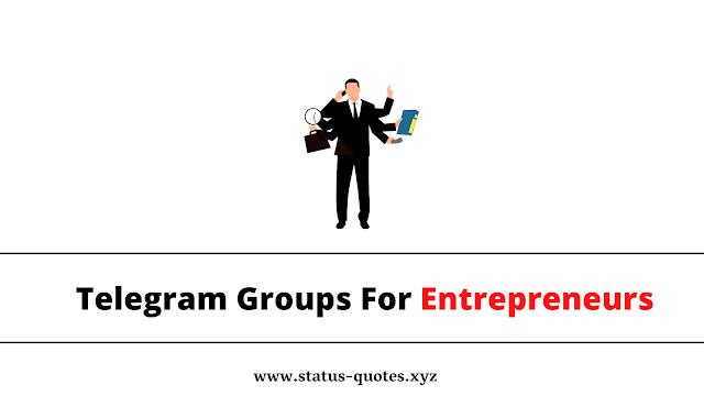 { BEST } Telegram Group For Entrepreneurs