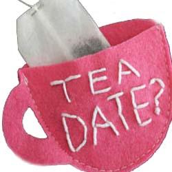 TEA DATE felt handmade gift DIY