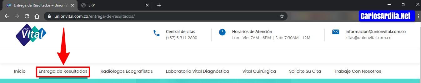Unión Vital Entrega de resultados.