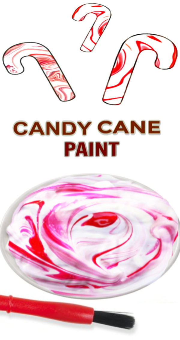 Make an array of arts and crafts using this easy to make candy cane paint.  Kids will love that it smells just like Christmas! #candycane #candycanepaint #candycanecrafts #candycaneartprojectsforkids #christmascrafts #growingajeweledrose #activitiesforkids