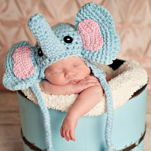 Elephant Crochet Hat - Free Pattern