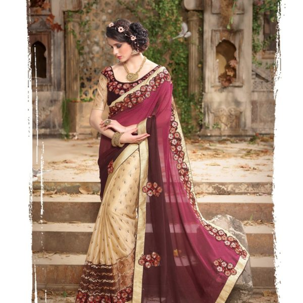 https://www.giadesigner.in/product/charming-cream-brown-magenta-georgette-lycra-saree-with-cream-brown-velvet-blouse/