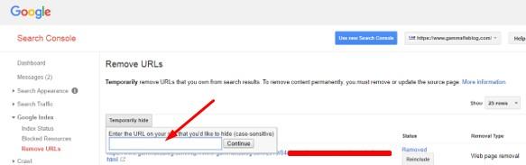 Remove URL